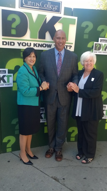 Assemblyman Holden with Citrus College President Dr. Geraldine M. Perri and Board Trustee President Sue Keith