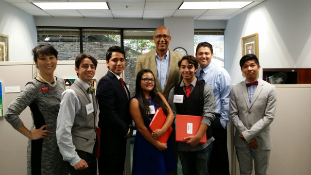 Assemblyman Holden with Teen Leadership of the Hemophilia Foundation of Southern California