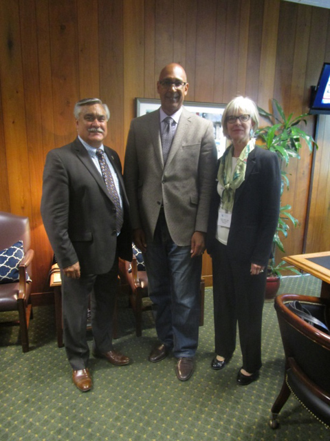 Assemblyman Holden with Burbank Vice Mayor Jess Talamantes and Councilmember Emily Gabel-Luddy