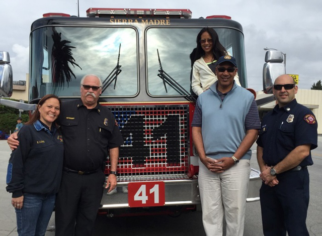 Assemblyman Holden with Sierra Madre Volunteer Fire Department