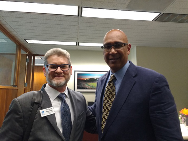 Assemblyman Holden with Michael Shanklin