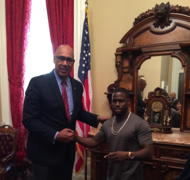 Assemblyman Holden with Kevin Hart