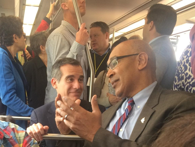 Assemblyman Holden with Eric Garcetti