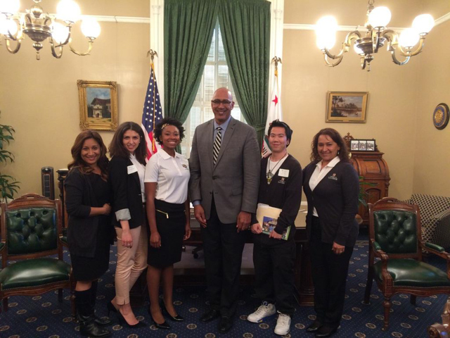 Assemblyman Holden with U of La Verne students