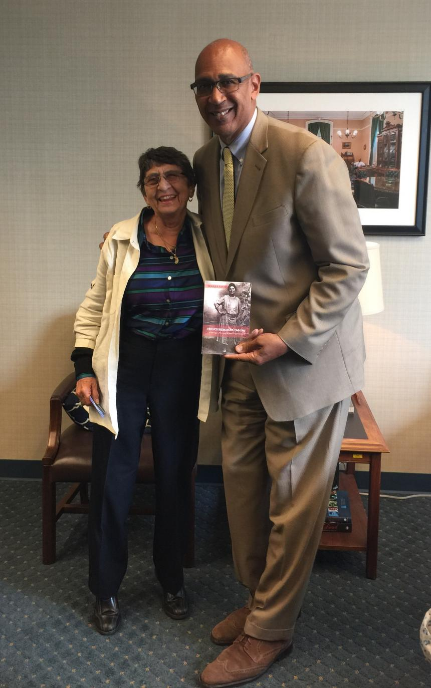Monique Saigal-Escudero with Holden in Capitol Office