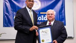 Asm. Holden with an honoree